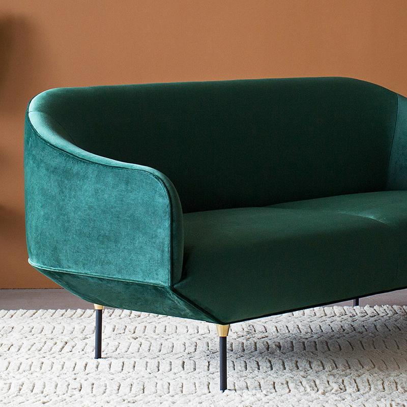buy Bale Sofa in Forest Green Velvet online