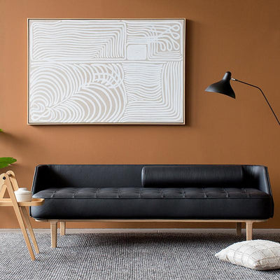 White Line on Linen Fine Art Print