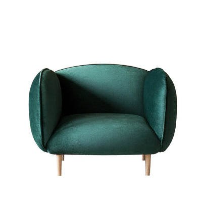 buy Mellow Chair in Forest Green Velvet online
