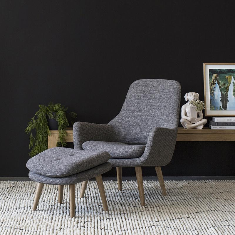 Engels Armchair in Antracit