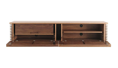 Line Series TV Media Console in Walnut