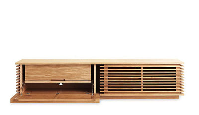 Line Series TV Media Console in Oak