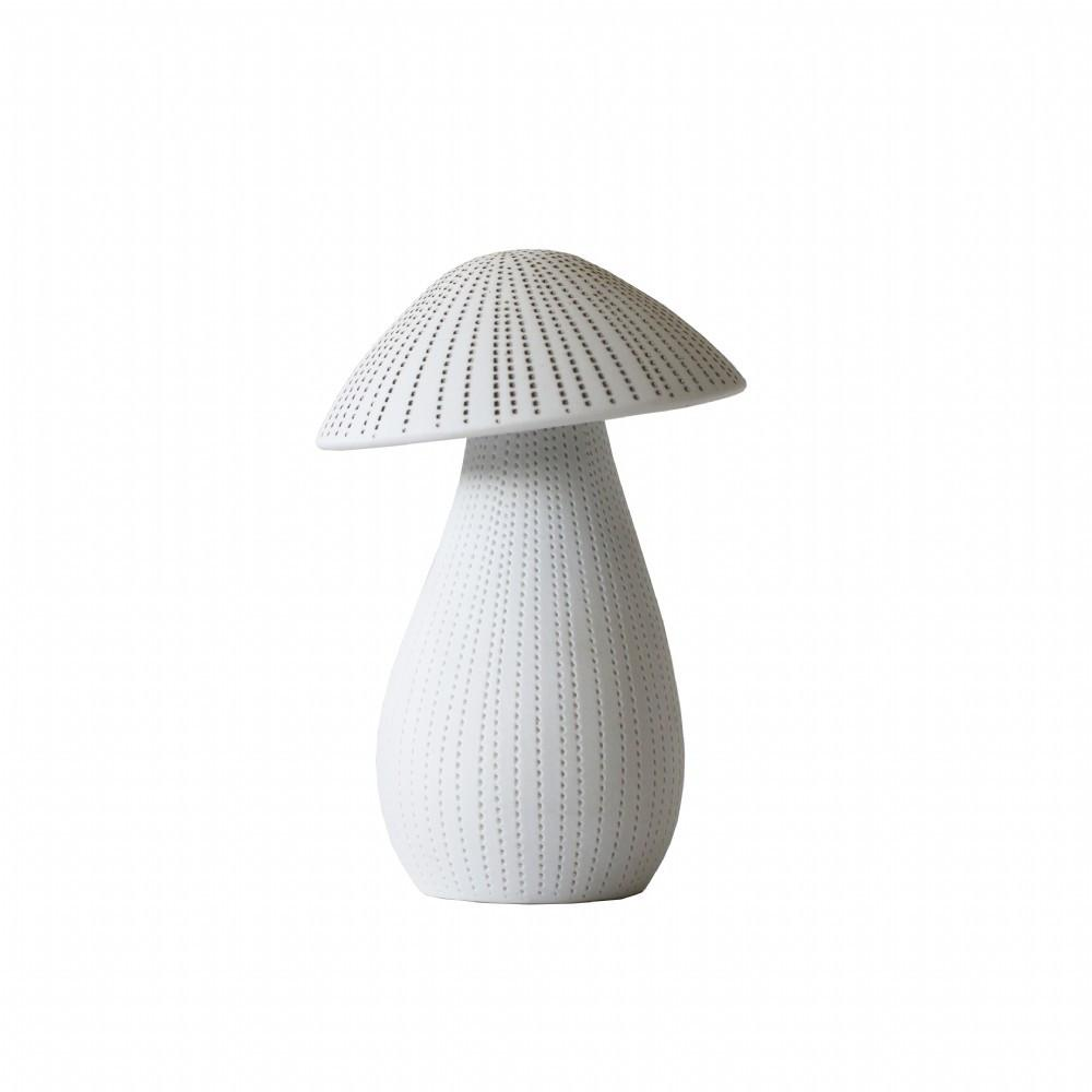 buy Large Ceramic Mushroom - White/Brown online