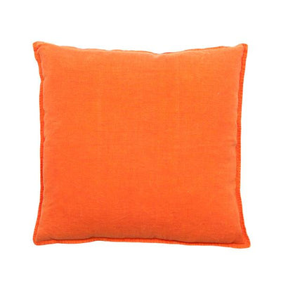 100% Pre-washed Orange Linen Cushion