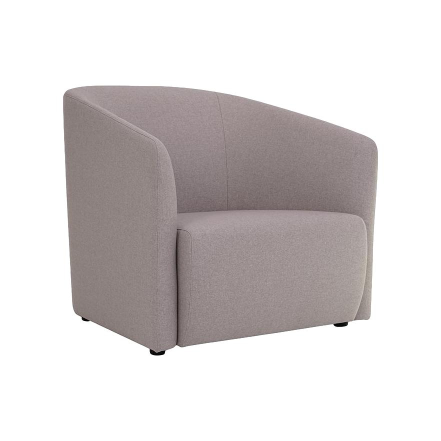 Hub Lounge Armchair in Light Grey Fabric