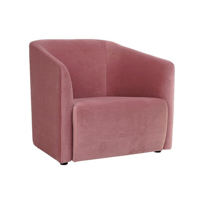 buy Hub Lounge Armchair in Dusty Rose Velvet online