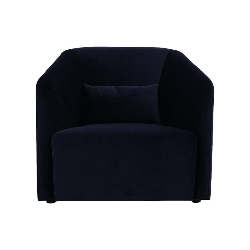 Hub Lounge Armchair in French Navy