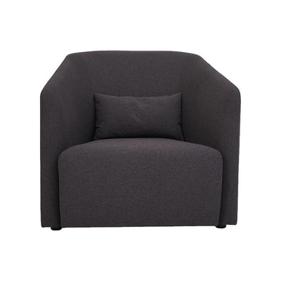 Hub Lounge Armchair in Dark Grey