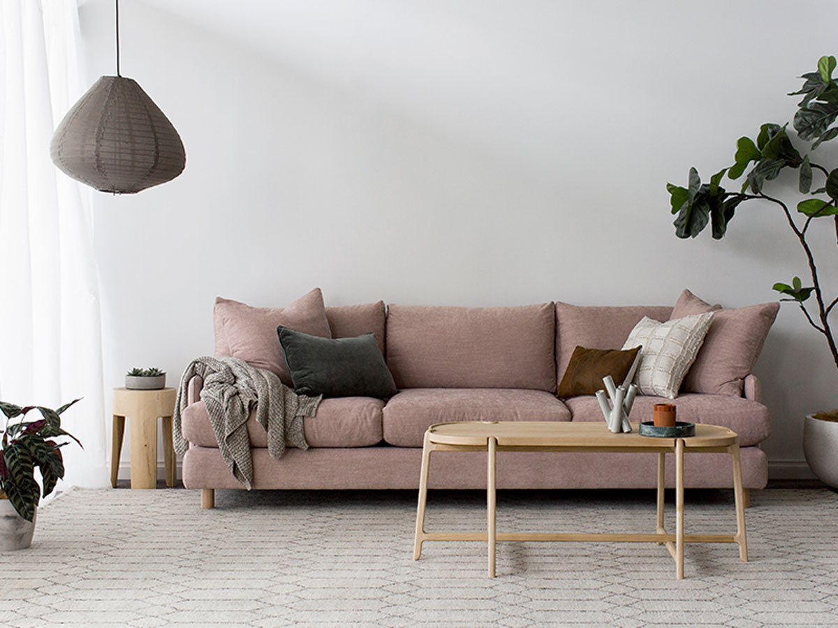 Dwell Sofa In Maison Blush Curious Grace