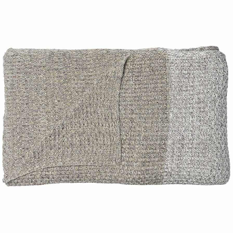 100% Cotton Knit Heavyweight Throw