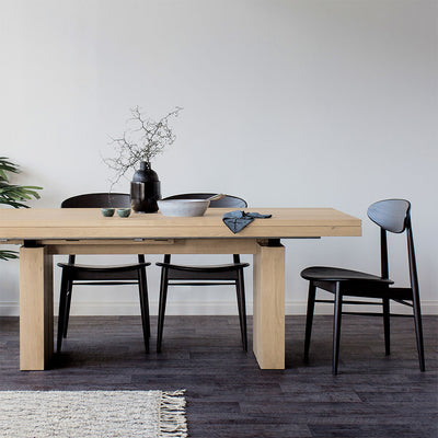 Ethnicraft Oak Double Extendable Dining Table