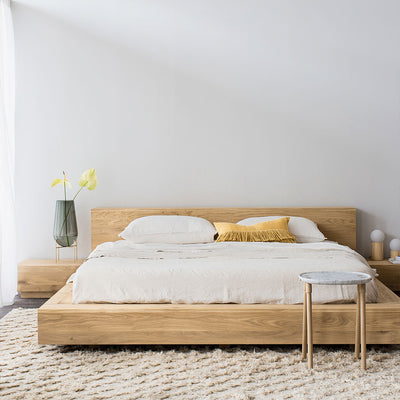Ethnicraft Oak Madra Queen Size Bed