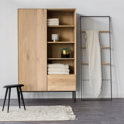 buy Ethnicraft Oak Whitebird Storage Cupboard - 1 Door / 1 Drawer online