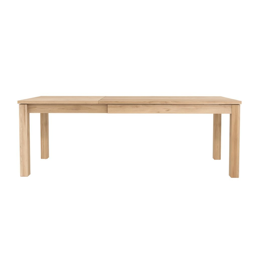 buy Ethnicraft Oak Straight Extendable Dining Table - Legs 8 x 8cm online