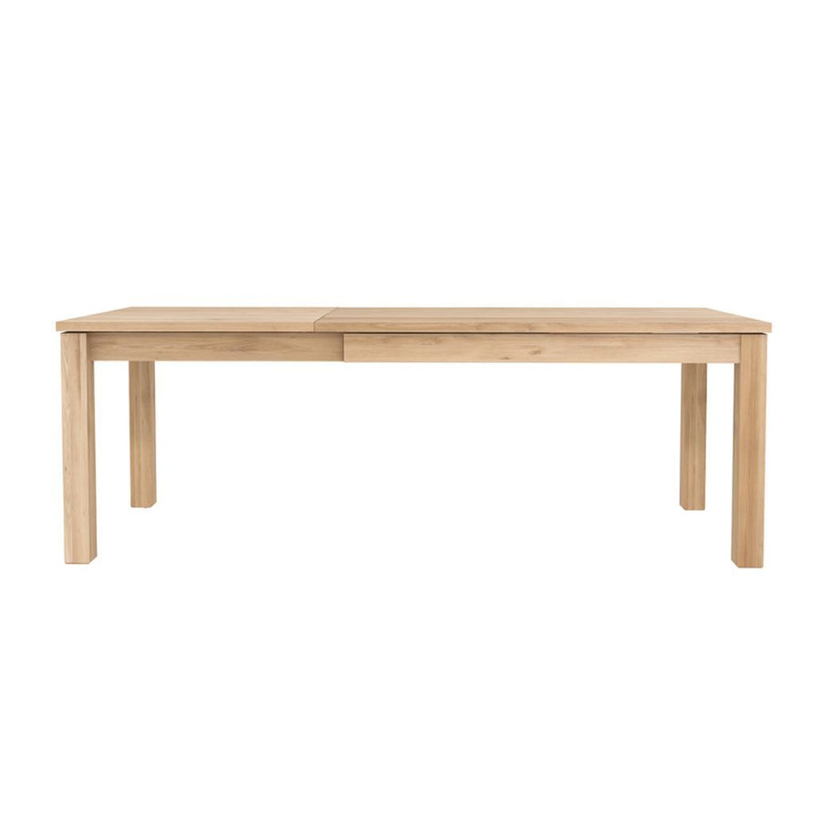 Ethnicraft Oak Straight Extendable Dining Table - Legs 8 x 8cm