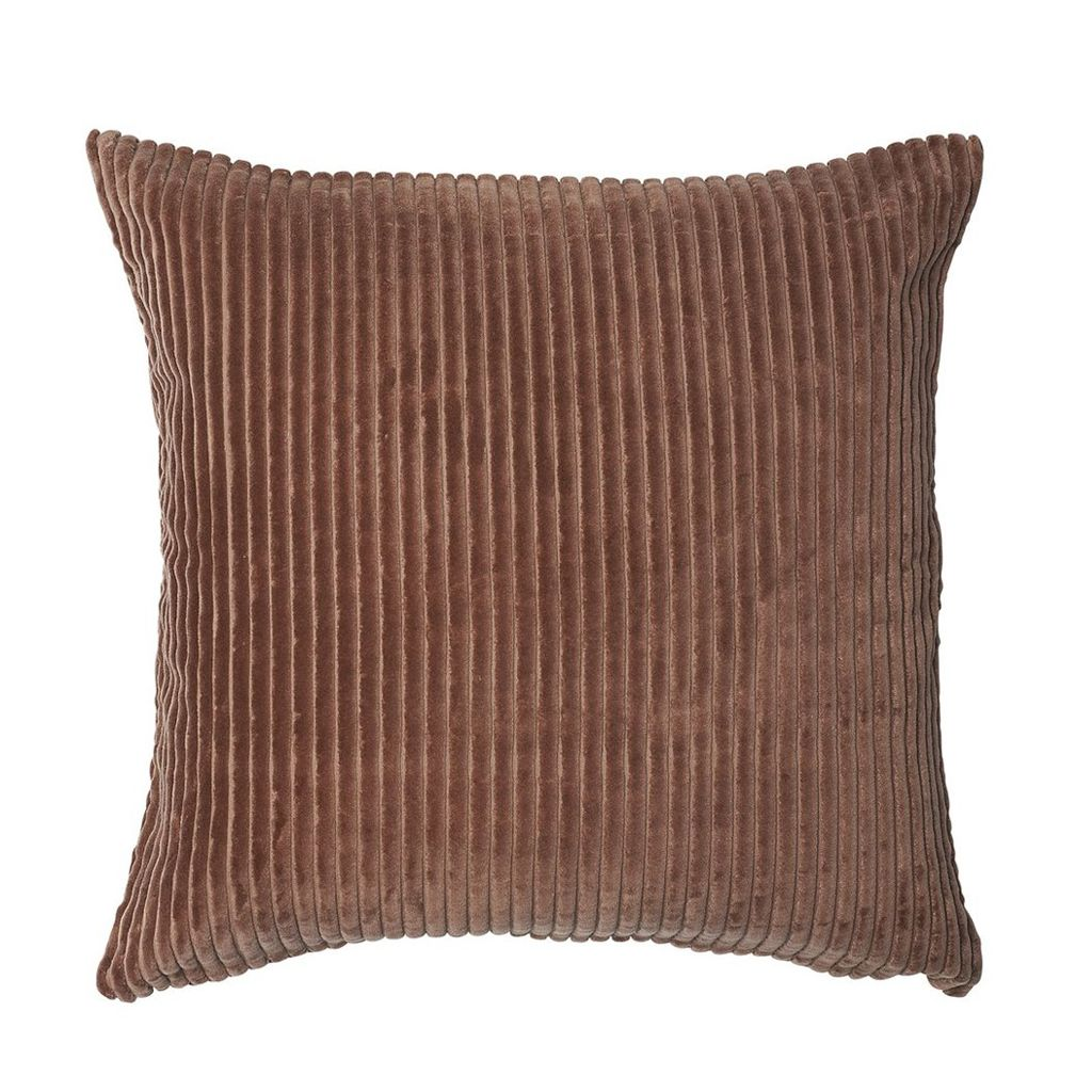 buy 100% cotton ribbed velvet cushion - desert rose online