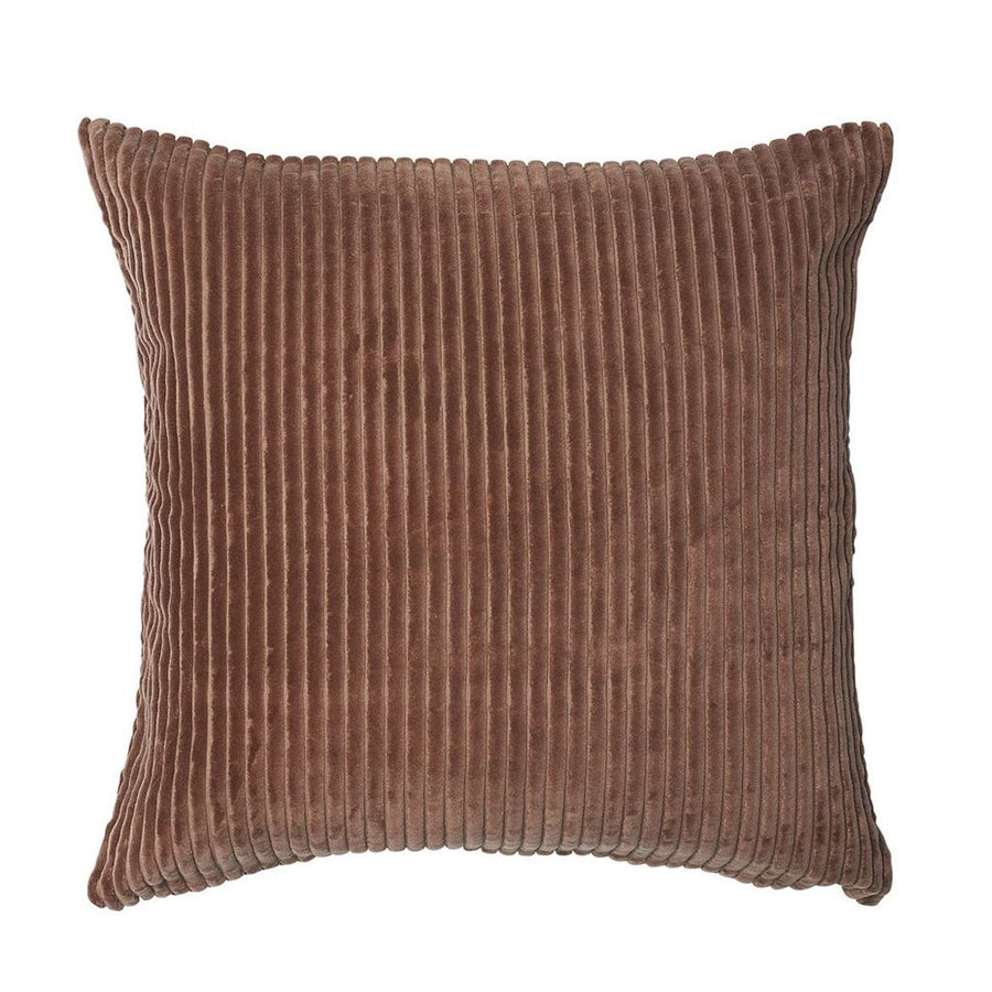 100% cotton ribbed velvet  cushion - desert rose