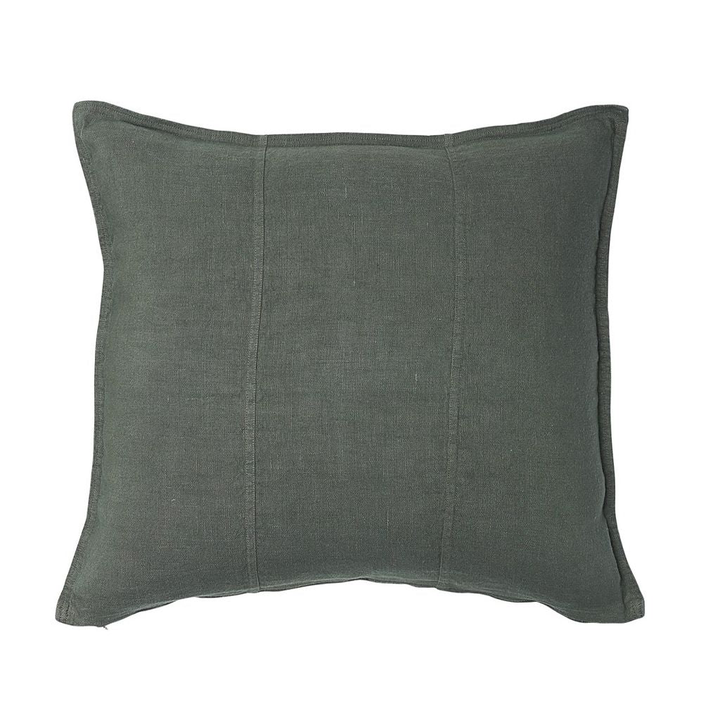 100% Pre Washed Linen Cushion - Khaki