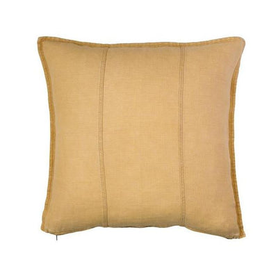 100% Pre-washed Mustard Linen Cushion