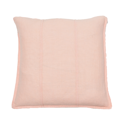 100% Pre-washed Soft Pink Linen Cushion