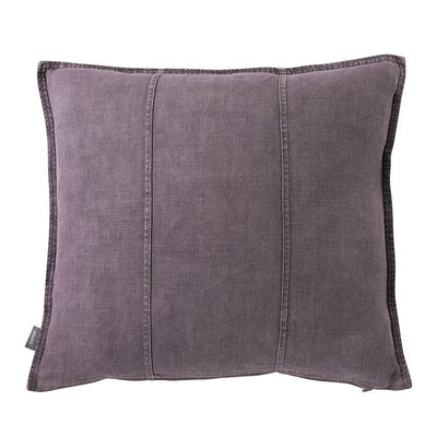 100% Pre-washed Aubergine Linen Cushion