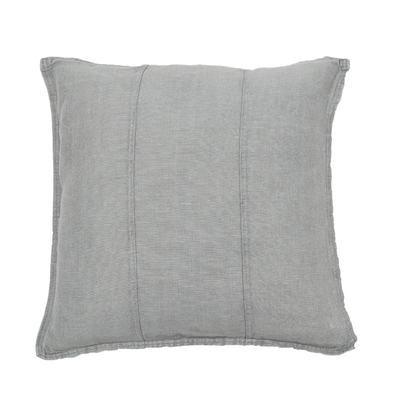 100% Pre-washed Silver Grey Linen Cushion