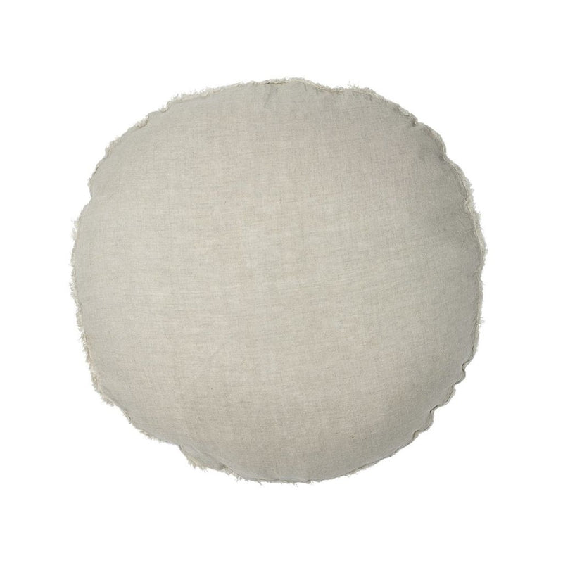 buy 100% European Linen Round Cushion - Natural online