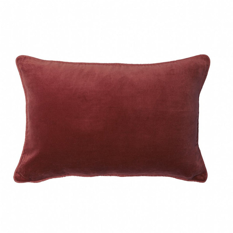 buy 100% Cotton Velvet Cushion with Linen Piping - Rosetta online