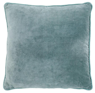 100% Cotton Velvet Cushion - Sea Mist
