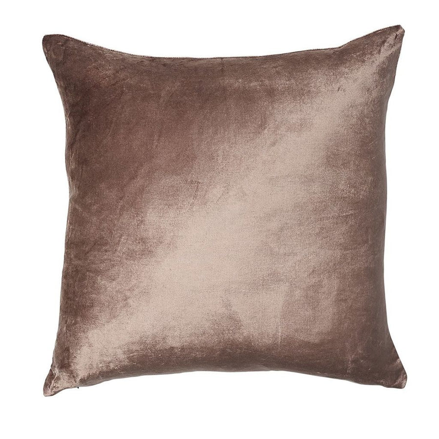 Metallic Velvet Cushion - Rose Gold