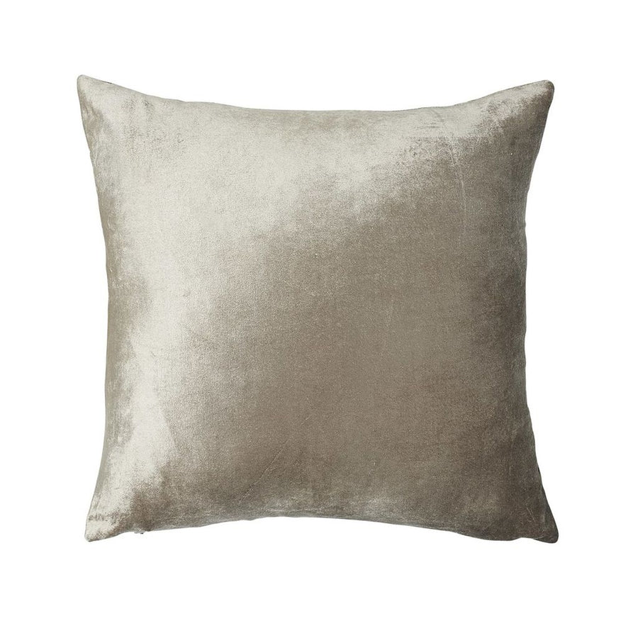 Metallic Velvet Cushion - Soft Gold