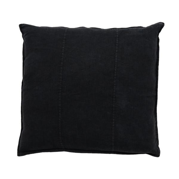 100% Pre-washed Black Linen Cushion