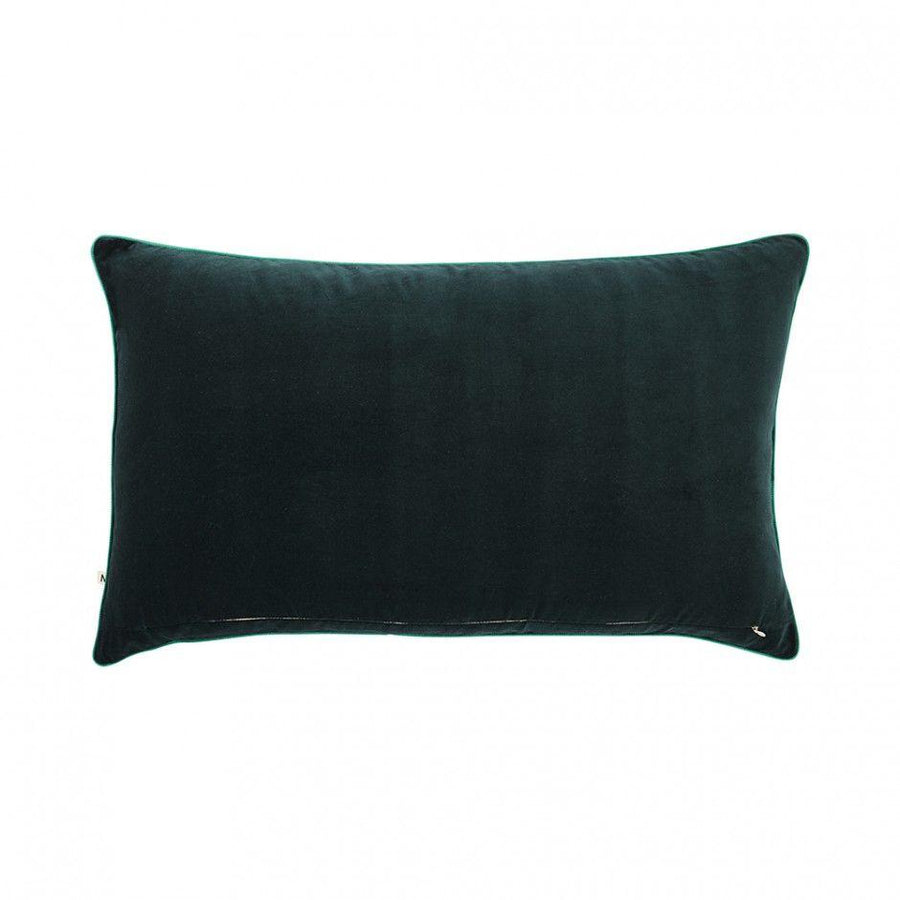 Rainforest Velvet Cushion - Rectangular