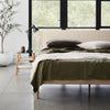 Fawn Oak King Bed - Black Cotton