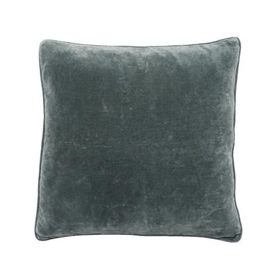 100% Cotton Slate Velvet Cushion