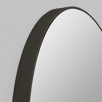 Round Flynn Mirror in Black