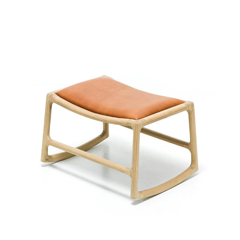 Dedo Footstool - Dakar Whisky Leather