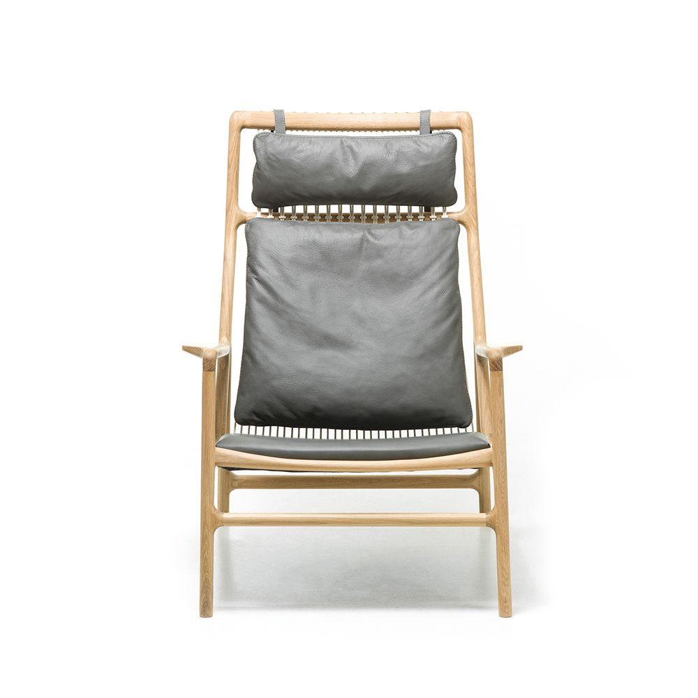 Dedo Lounge Chair - Dakar Grey Leather