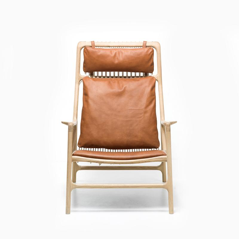 Dedo Lounge Chair - Dakar Whisky Leather
