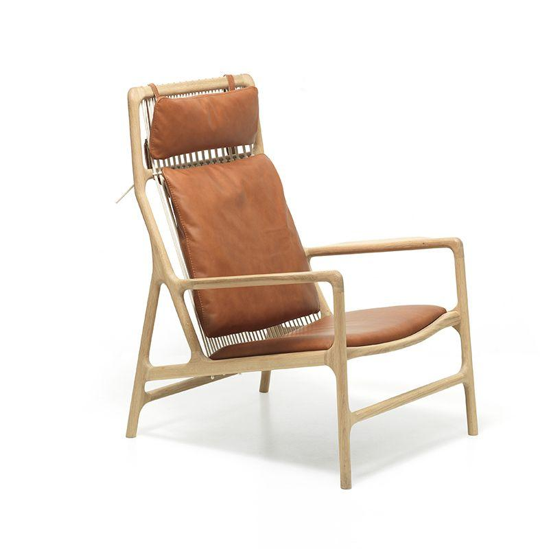 buy Dedo Lounge Chair - Dakar Whisky Leather online