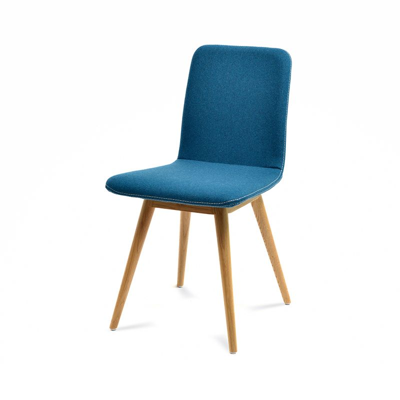 Ena Oak Dining Chair - Petrol Felt