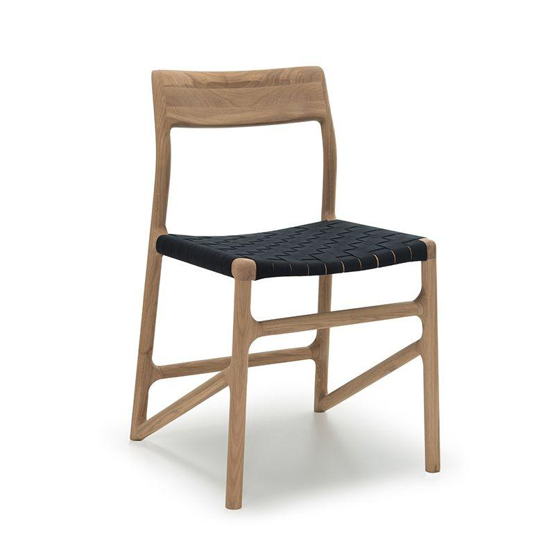Fawn Oak Dining Chair - Black Cotton