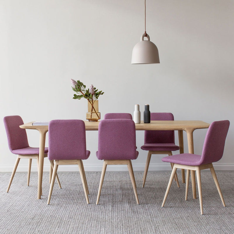 buy Ena Oak Dining Chair - Pink Felt online