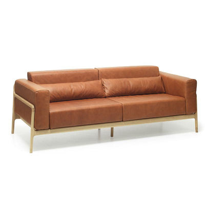Fawn Sofa - Dakar Whisky Leather