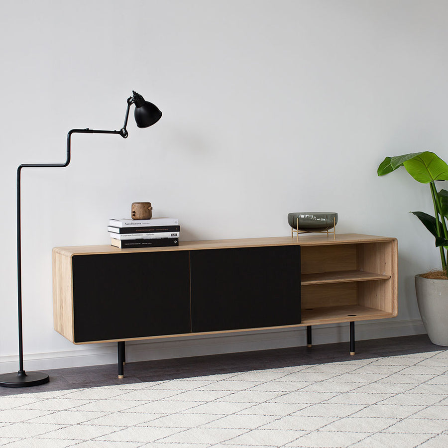 Fina Oak Sideboard - Nero