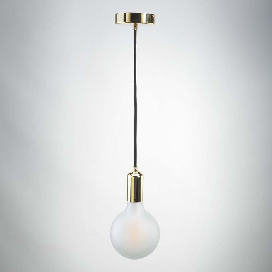 Vintage LED E27 Metal Pendant - Gold