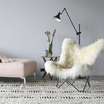 Icelandic Pampa Mariposa Wild White Chair