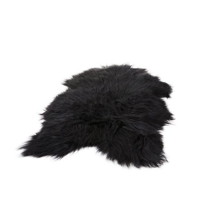 Long Haired Sheepskin in Wild Black