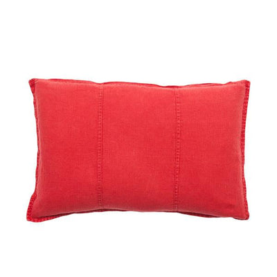 100% Pre-washed Red Linen Cushion