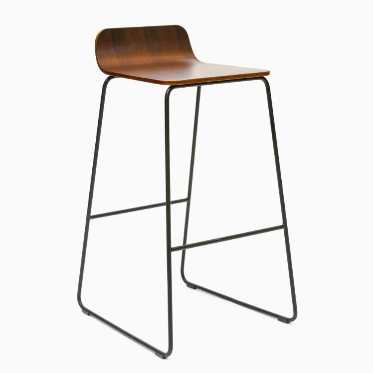 Oakland Living Indoor Black And White Ladder Back 5 Piece: Lolli Bar Stool
